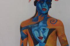 body arte y maquillaje