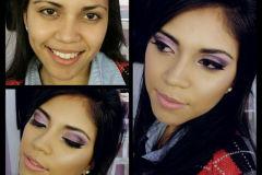 maquillaje social, antes y despues