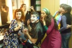 Camarines de Teatro Nacional Cervantes con colegas/hermanas