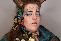Maquillaje artístico inpirado en Alexander Mcqueen