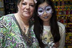 """Maquillaje infantil estilo """" pintacarias"""" realizado en un taller realizado en la ciudad de Corrientes para Fiesta cotillón para la marca Pintafan."""