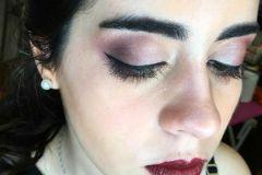 Maquillaje realizado en curso de maquillaje