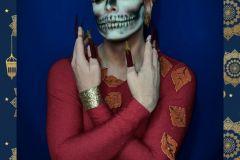"""Drag Queen #BrandaHildebranda en otoño, basada en poesía infantil """"Los árboles desnudos..."""""""