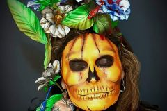 Maquillaje fantasía fusión: noche de brujas/día de muertos