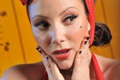 Maquillaje social pin up para producción