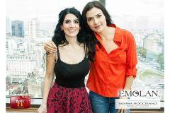 Maquillando a Ana Maria Orozco en el Spots del Festival y Mercado de Television Internacional