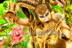 Personaje fauno, para carnaval  Gualeguaychu .Técnica de bodypaints con aerografo y realización de casco con ornamenta realizado con látex.
