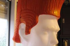 Realización de peluca semi rigida, con latex y poliuretano expandido.