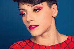 Producción Spider Woman - aplicación de base con aerografo.