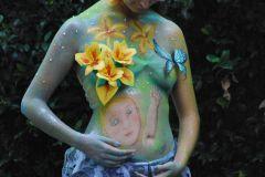 bodypainting inspirado Fatima Azura